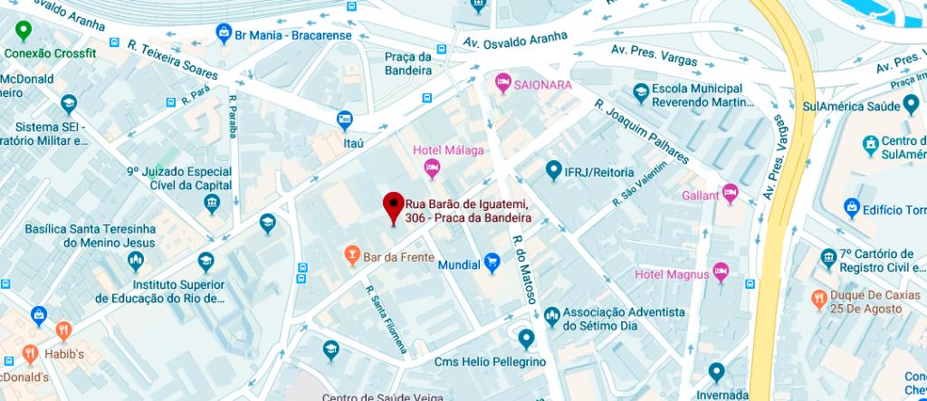 Mapa Chevra Kadisha - Rua Barão de Iguatemi, 306